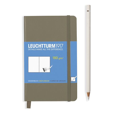 Sketchbook Pocket (A6) 96 pages (180 g/sqm), plain, taupe