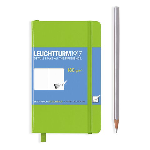 Sketchbook Pocket (A6) 96 pages (180 g/sqm), plain, lime