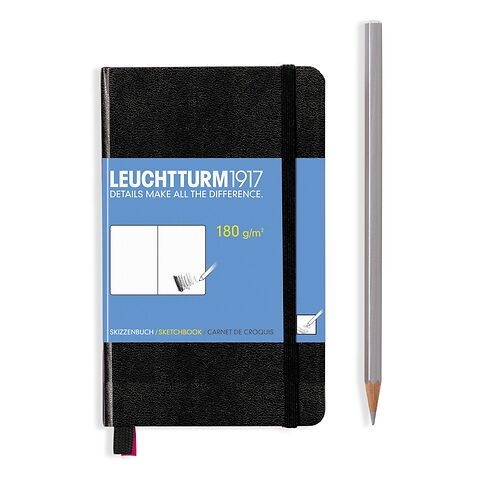 Sketchbook Pocket (A6) 96 pages (180 g/sqm), plain, black