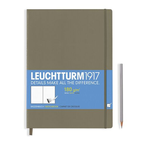 Sketchbook Master (A4+) 96 pages (180 g/sqm), plain, taupe