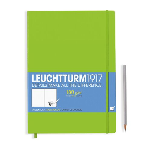 Sketchbook Master (A4+) 96 pages (180 g/sqm), plain, lime