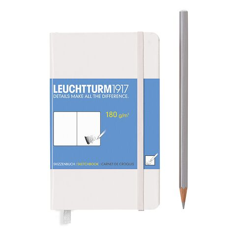 Sketchbook Pocket (A6) 96 pages (180 g/sqm), plain, white