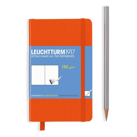 Sketchbook Pocket (A6) 96 pages (180 g/sqm), plain, orange