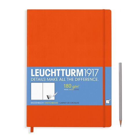 Sketchbook Master (A4+) 96 pages (180 g/sqm), plain, orange