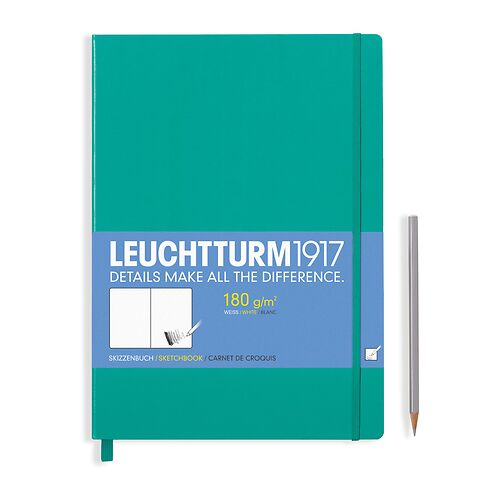 Sketchbook Master (A4+) 96 pages (180 g/sqm), plain, emerald