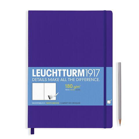 Sketchbook Master (A4+) plain, 96 pages (180 g/sqm), purple
