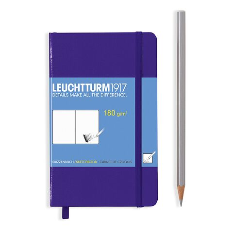 Sketchbook Pocket (A6) plain, 96 pages (180 g/sqm), purple