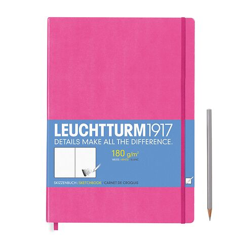 Sketchbook Master (A4+) plain, 96 pages (180 g/sqm), new pink