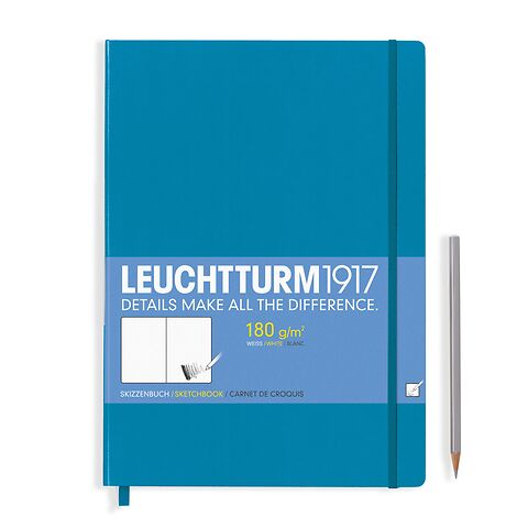 Sketchbook Master (A4+) plain, 96 pages (180 g/sqm), azure ower