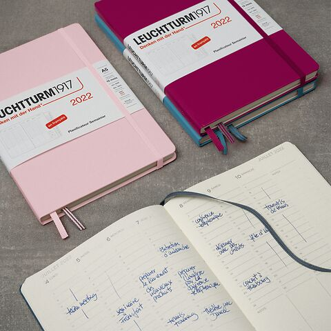 Week Planner 2022, 12 months FRENCH