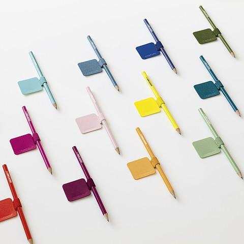 Pen Loop (elastic pen holder), Size: 40 x 40 mm, 15 mm elastic loop