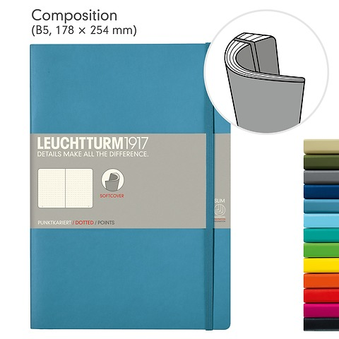 Notebook Composition (B5), Softcover, 121 numbered pages