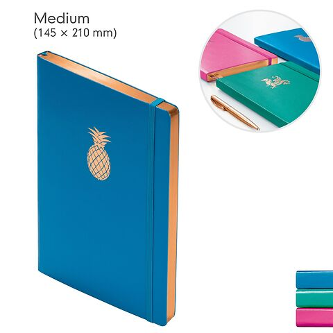 Notebook  (A5), with copper edge, Hardcover, 249 numbered pages