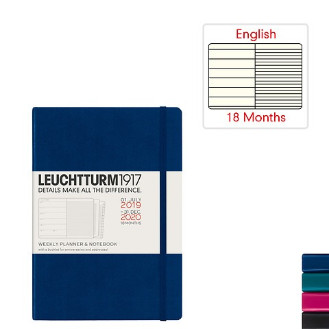 Weekly Planner & Notebook 2020 - 18 months - english