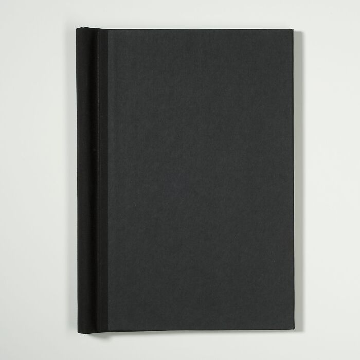 Springback Binder A4 covered with robust Canvas, 305 x 220 x 25 mm, black