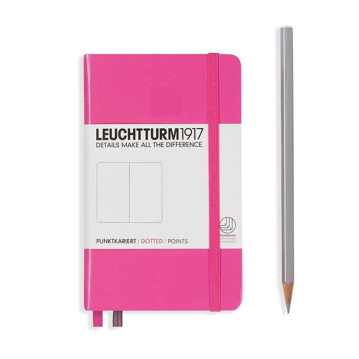Notebook Pocket (A6) Hardcover, 185 numbered pages, dotted, pink