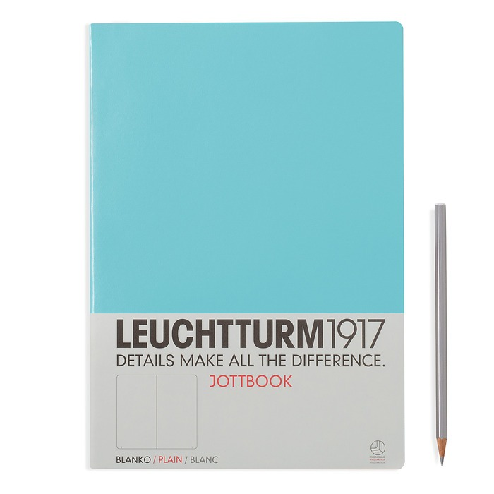 Jottbook A4 (210x297) 60 pages, 16 pages perforated, plain, light blue