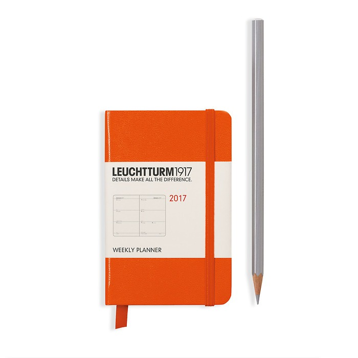 Weekly Planner Mini (A7) 2017 orange, English