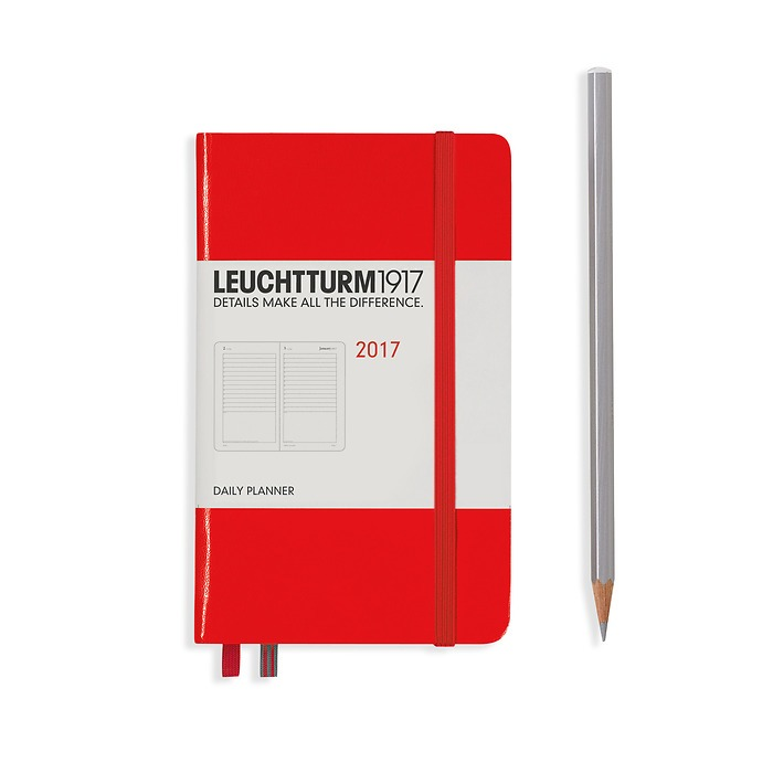 Daily Planner 12 Months Pocket (A6) 2017 orange, English