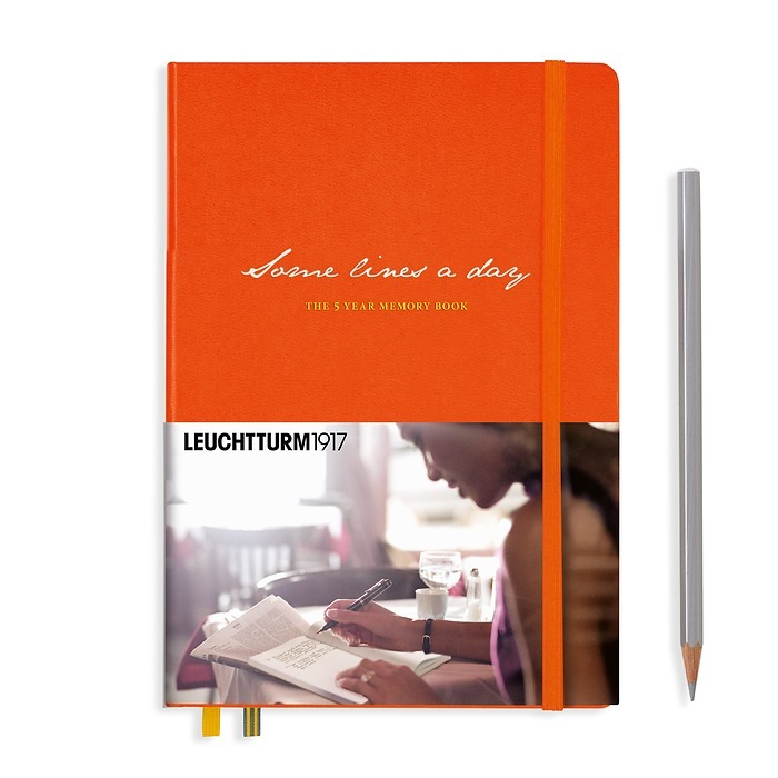 Some lines a day, 5 Year Memory Book Medium (A5), orange