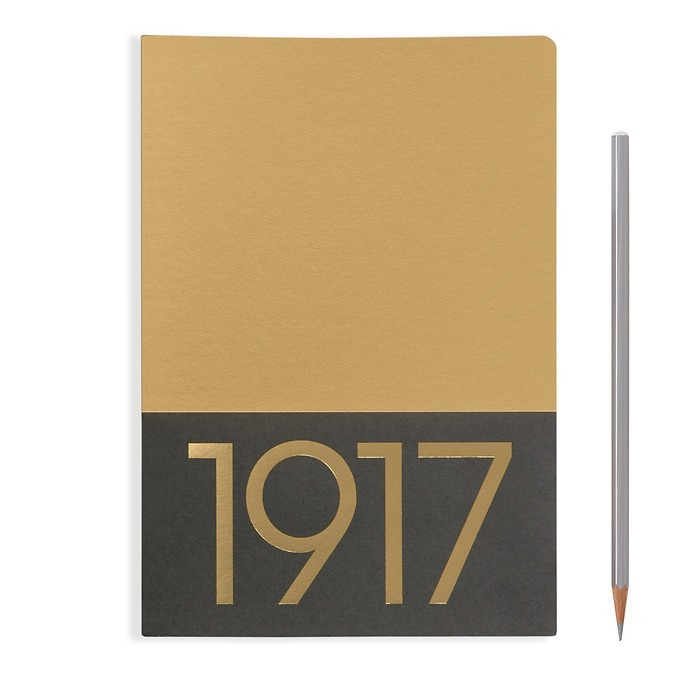 Jottbook Medium (A5), 60 numbered pages, ruled, Gold,pack of 2