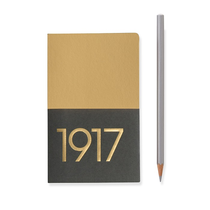 Jottbook Pocket (A6), 60 numbered pages, ruled, Gold, pack of 2