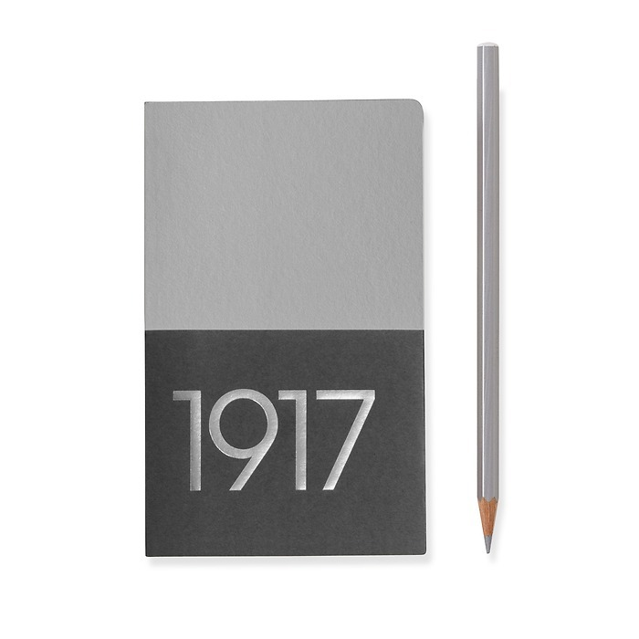 Jottbook Pocket (A6), 60 numbered pages, ruled, Silver, pack of 2
