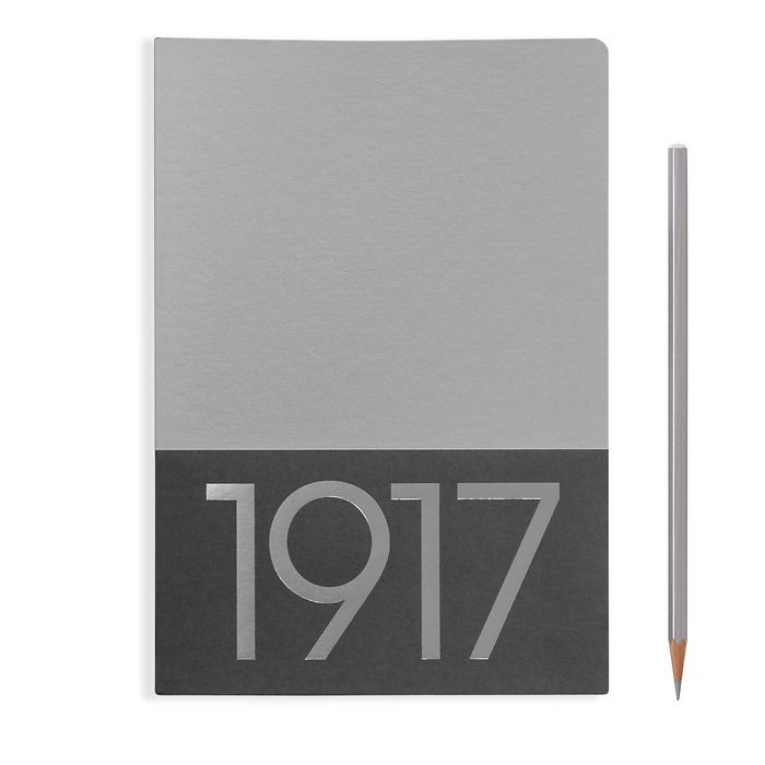 Jottbook Medium (A5), 60 numbered pages, ruled, Silver, pack of 2