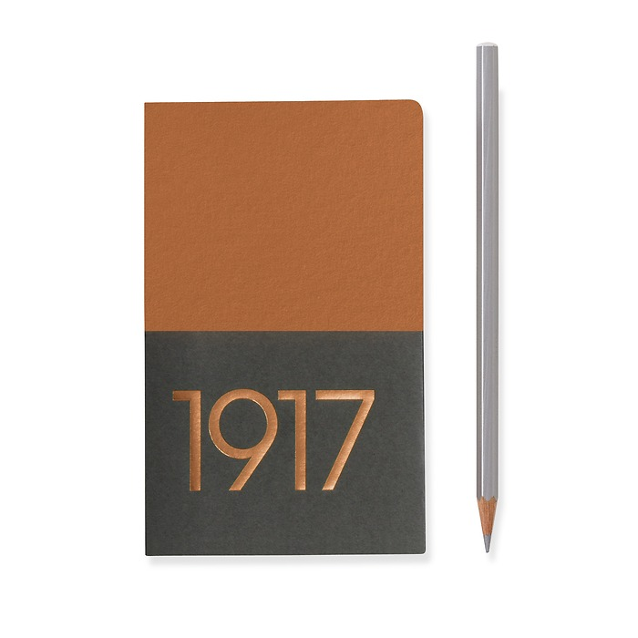 Jottbook Pocket (A6), 60 numbered pages, plain, Copper, pack of 2