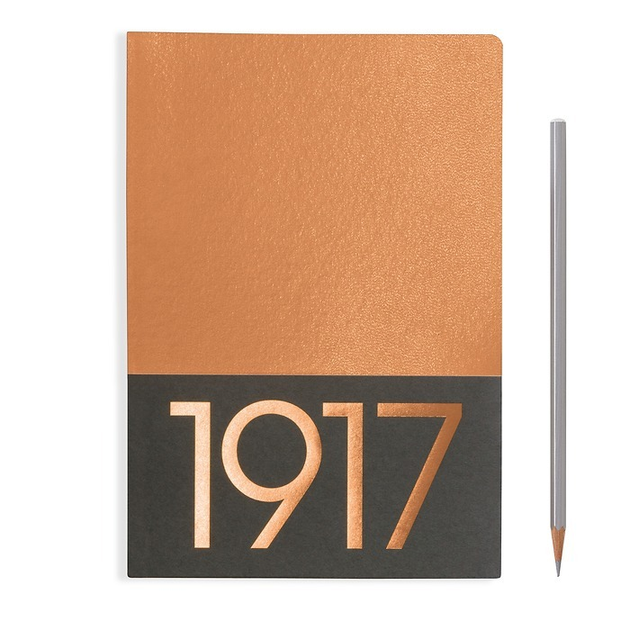 Jottbook Medium (A5), 60 numbered pages, plain, Copper, pack of 2