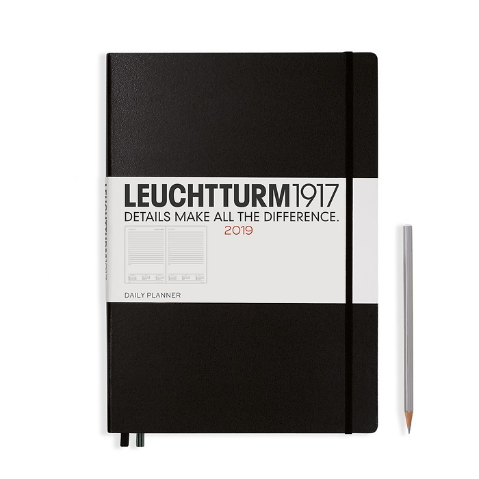 Daily Planner 12 Months Master (A4+) 2019 black, English