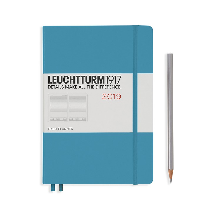 Daily Planner 12 Months Medium (A5) 2019 Nordic Blue, English
