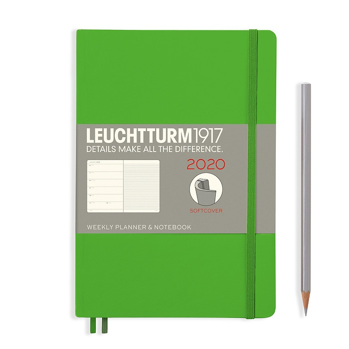 Weekly Planner & Notebook Softcover Medium (A5) 2020, Fresh Green, English