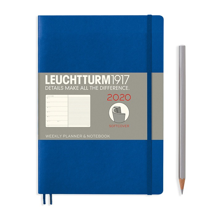 Weekly Planner & Notebook Softcover Medium (A5) 2020, Royal Blue, English