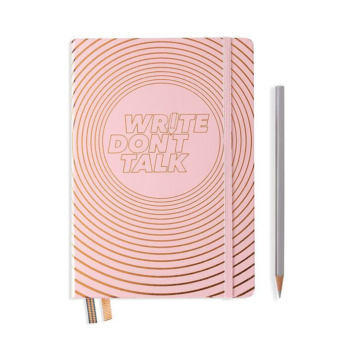 Notebook Medium (A5), Hardcover, 251 num. p., Powder, dotted,'Write don't talk'