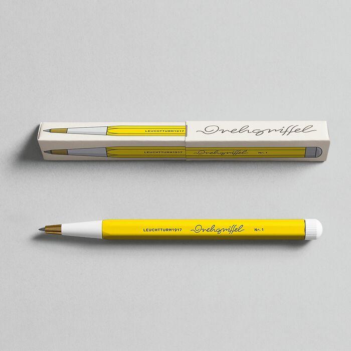 Drehgriffel Nr. 1, Lemon - Gelpen with black ink