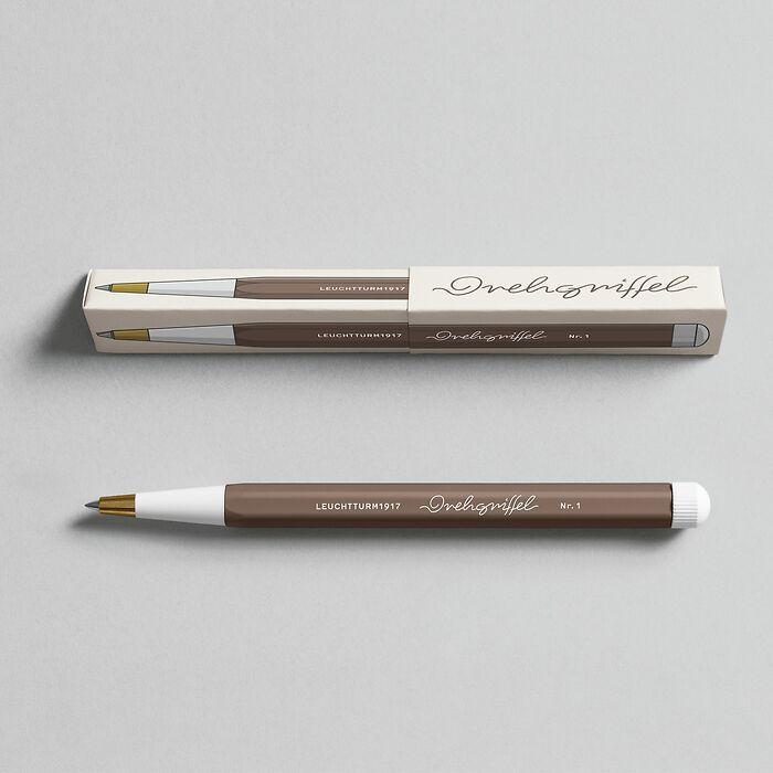 Drehgriffel Nr. 1, Warm Earth - Gelpen with black ink