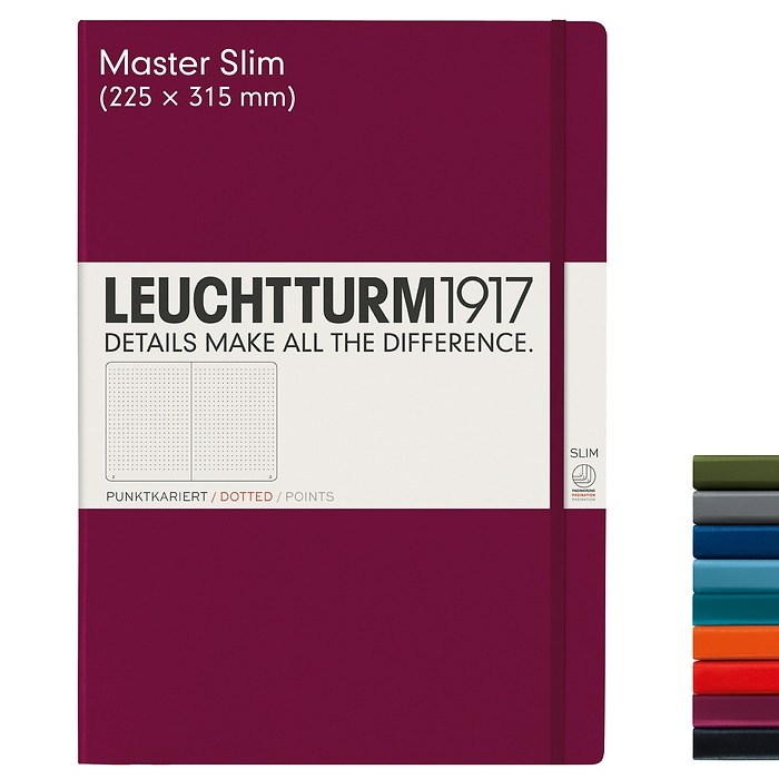 Notebook Master Slim (A4+), Hardcover, 121 numbered pages