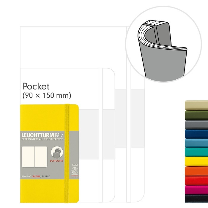 Notebook Pocket (A6), Softcover, 121 numbered pages