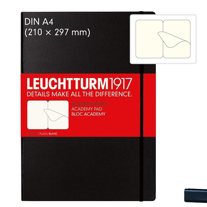 Academy Pad A4, Hardcover, 60 sheets removable