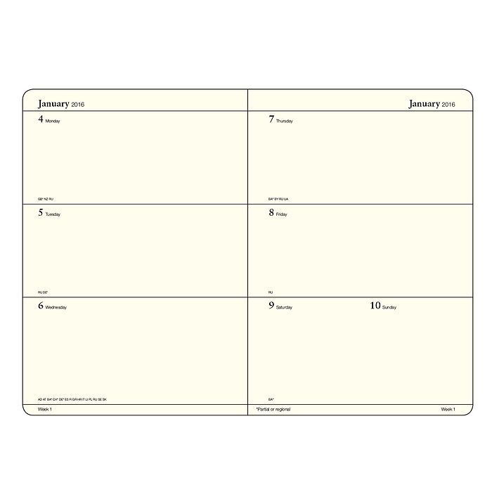 Weekly Planner + extra booklet for anniversaries and addresses