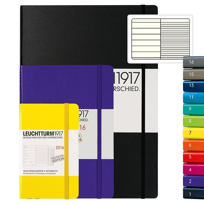 Weekly Planner & Notebook + extra booklet for anniversaries and addresses