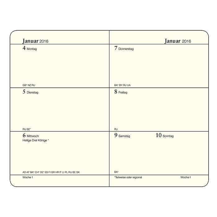 Weekly Planner Mini (A7) + extra booklet for anniversaries and addresses