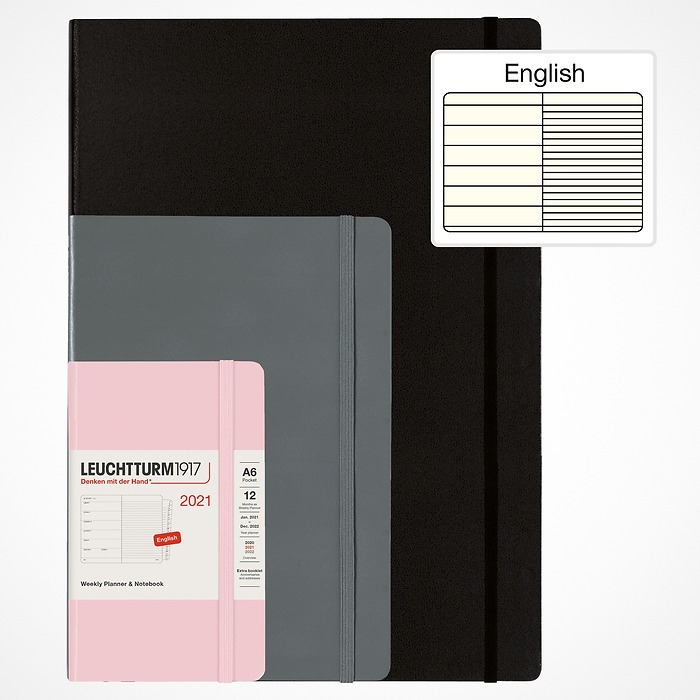 Weekly Planner & Notebook 2021, English