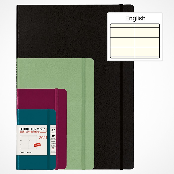 Weekly Planner 2021 with extra booklet for anniversaries and addresses, English