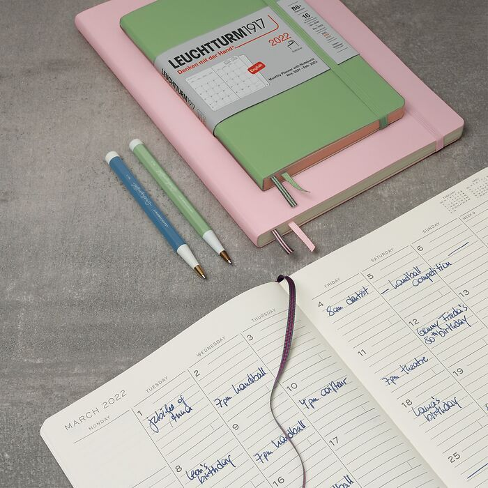 Monthly Planner with Notebook