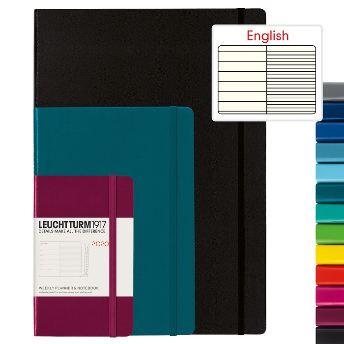 Weekly Planner & Notebook 2020 - English
