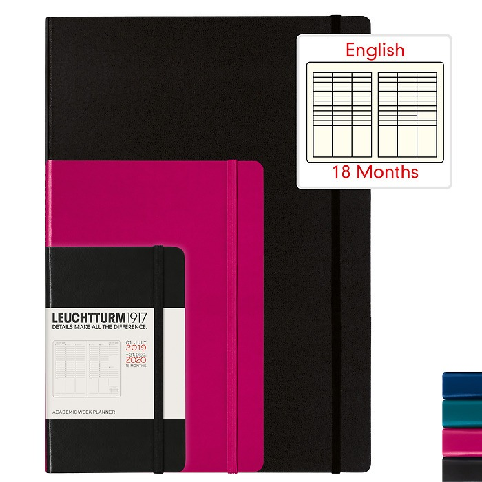 Academic Week Planner 2020 - 18 months - English