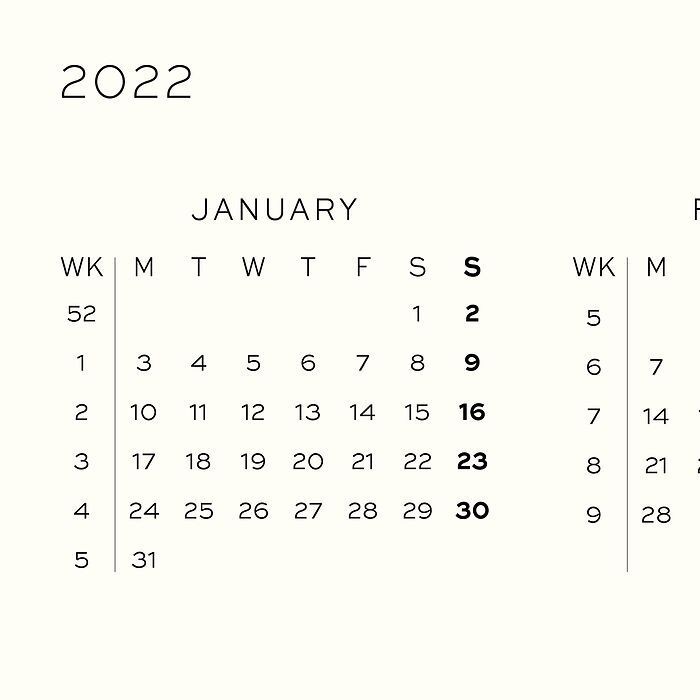 Weekly Planner 2022, 12 months